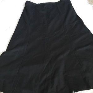 1d59dec419f Pants - Talbots Black Italian Flannel wool riding skirt